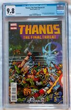Thanos: The final Threat #1 CGC 9.8 White Pages Marvel 2012 Captain America Thor