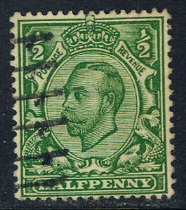 Great Britain #153(1) 1912 1/2 pence green KING GEORGE V Used CV$4.50