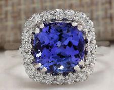 4.81 Carat Natural Tanzanite 14K White Gold Diamond Ring