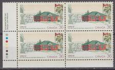 """CANADA #1123 36¢ CAPEX '87 """"Nelson-Miramichi Post Office"""" LL Plate Block MNH"""