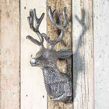 26cm Wall Mounted Nickel Reindeer Stag Deer Head Home Decoration Art Object Item