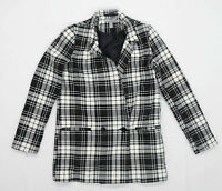 Asos Womens Size 4 Check Black Jacket