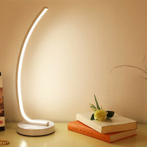 Dimming 15W LED Desk Light Reading Lamp Button Plug Color-Temp Changeable Hotel