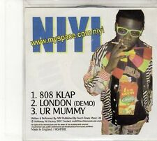 (FD161) NIYI, 808 Klap / London / Ur Mummy - 2007 DJ CD