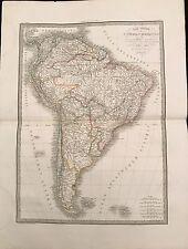 CARTE GÉNÉRALE DE L'AMÉRIQUE MÉRIDIONALE 1829