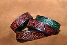 HandcraftedLeather Celtic-knot  Wristband , Bracelet Various Colours All Sizes
