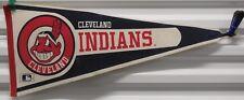 "Vintage Cleveland Indians Full Size 12"" x 30"" Felt Pennant"