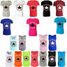 NEW WOMEN'S  CONVERSE ALL STAR LOGO PRINT T SHIRT VEST TOP SIZE 8-14