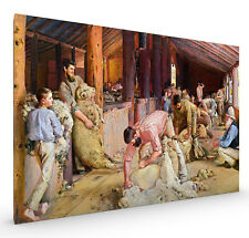 Shearing The Rams by Tom Roberts Stretched Canvas 84cm x 56.5cm