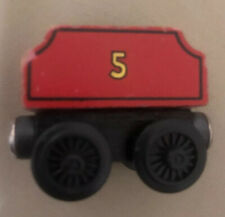 Vintage Wooden Thomas And Friends Train #5 Red Car Wood