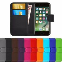 Premium Luxury Leather Flip Wallet Ultra Slim Case Cover For Apple iPhone 7