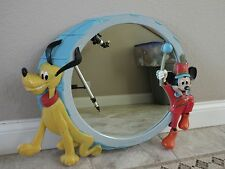 "VINTAGE DISNEY MICKEY MOUSE AND PLUTO LARGE WALL MIRROR  27"" X 21"""