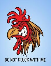 METAL FRIDGE MAGNET Rooster Do Not Pluck With Me Bird Chicken Humor Funny