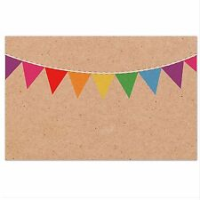 50x Kraft Paper Craft Cards Cardstock 10x6.5CM Wedding Name Place Card Bunting