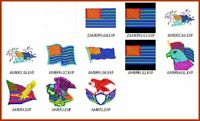11 America Flag Embroidery Digitized Designs to Run Machines