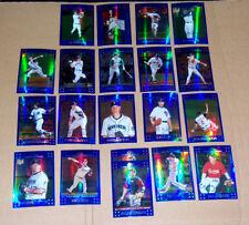 Lot of 22 - 2007 Topps Chrome Baseball Blue Refractors