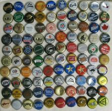 100 MIXED DIFFERENT WORLDWIDE BEER/HARD CIDER BOTTLE CAPS