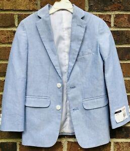 NWT Izod Boys Med Oxford Blue Blazer Sport Coat Size 8R Easter MSRP $90  C