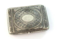 Antique Silver Cigarette/Vesta Cases