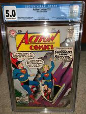 Action Comics #252 CGC 5.0 DC 1959 1st Supergirl! Superman! H12 112 cm clean