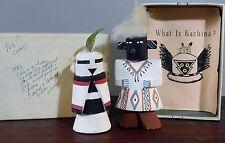 Vintage Pair of Native American Hopi Kachina Dolls Signed