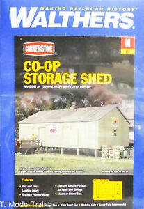 Walthers Cornerstone N #933-3230 Co-op Storage (Kit) Plastic (1:160th Scale)