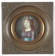 """Jean-Claude Naigeon (1753-1832) """"Mme Anne-Louise Le Blanc"""", fine miniature"""