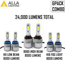 2X H3 YELLOW CREE LED FRONT FOG SPOT LAMP LIGHT BULBS HIGH POWER XENON FF501201