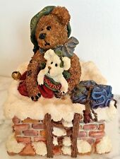 Likenew Boyds Bearstone Christmas Musical Santa Figurine Silver Bells Believe Le