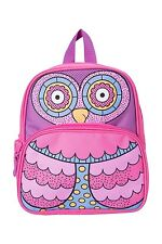 Girls Pink & Purple Owl Backpack -  By Mountain Warehouse