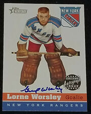 2000-2001 - TOPPS HERITAGE - LORNE GUMP WORSLEY - INSERT AUTOGRAPH HOCKEY CARD