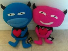 "MONZA Set of 2 Plush NWT RARE! Boy & Girl Blueno & Embo 17"" Code: MZ/DL-EM/M"