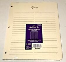 Hallmark AR1075 Guest Book Lined Refill Pages Creme - 10 Pack NEW