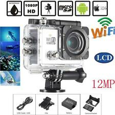"2.0"" Full HD 1080P Wifi Action Sport Camera 12MP 30FPS 4X 140° Diving Cam S Q1K1"