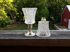 2 Homco 1194-Bd Diamondlite Clear Peg Votive Cup Candle Holders w/Grommets
