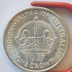 1937 Australian Crown Silver Plate Coin Album token filler Fantasy 5 Shilling