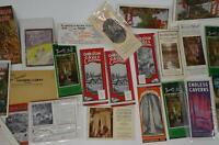 Lot 20 Vintage United States Travel Brochures Maps Ephemera Caverns Chasms