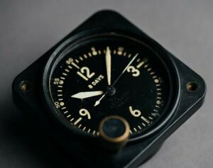 Bulova Type 11 Dash mounted car / tank / plane timer WW2 Swiss @WatchAdoption