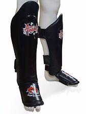 Muay Thai Shin Guards/ Kickboxing Shin Pads, Genuine Leather, ANARK® Brand