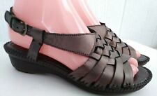 St Johns Bay Paloma Womens Bronze Woven Open Toe Sandal Shoes Size 6 1/2 6.5 M