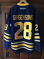 Zemgus Girgensons Signed Buffalo Sabres Jersey Size Large NWT