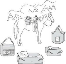 Suitability 7291 Saddle and Hay Bags Equestrian Sewing Pattern (Pattern Only)