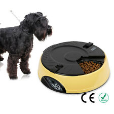 Automatic Pet Feeder 6 Meals Programmable Digital Timer Dog Cat Food Bowl