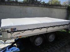 Flachplane Anhängerplane bis 3.50 Meter Grau LKW Plane in 680 gr/m²   XXL