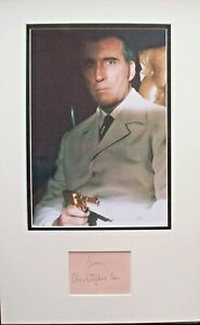 CHRISTOPHER LEE: James Bond. Hand-signed display. 'The Man with the Golden Gun'.