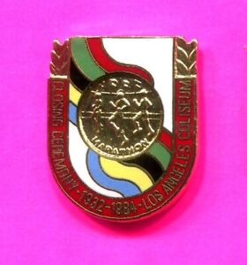 1984 OLYMPIC CLOSING CEREMONY PIN BLUE BLUE PIN ONLY 2000 MADE