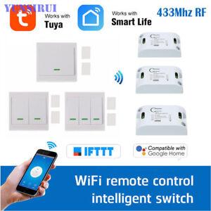 230V Tuya Funkschalter System WIFI&RF&Voice Switch Modul+RF Wandschalter Taster