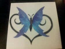 TEMPORARY TRIBAL HEART AND BUTTERFLY TATTOO