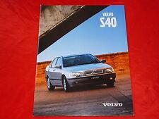 VOLVO S40 1.6 1.8 2.0 2.0T T4 TD Prospekt von 1999