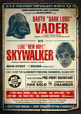 A4 alternative Star Wars Movie Poster (DVD Blu-ray LUKE SKYWALKER DARTH VADER)
